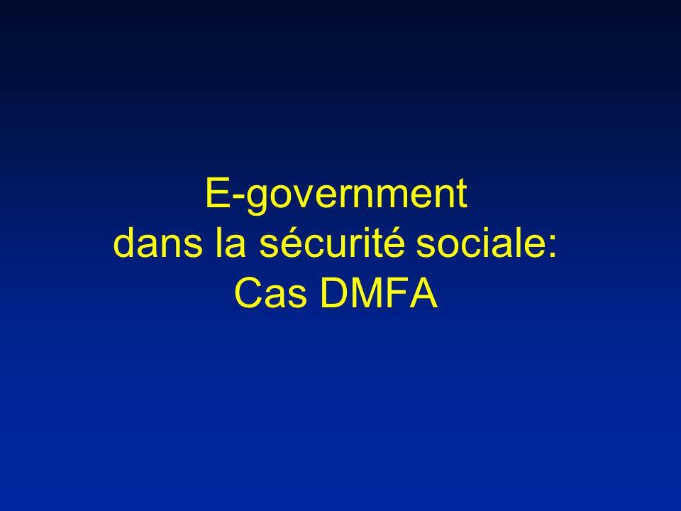 E-government dans la sécurité sociale: Cas DMFA