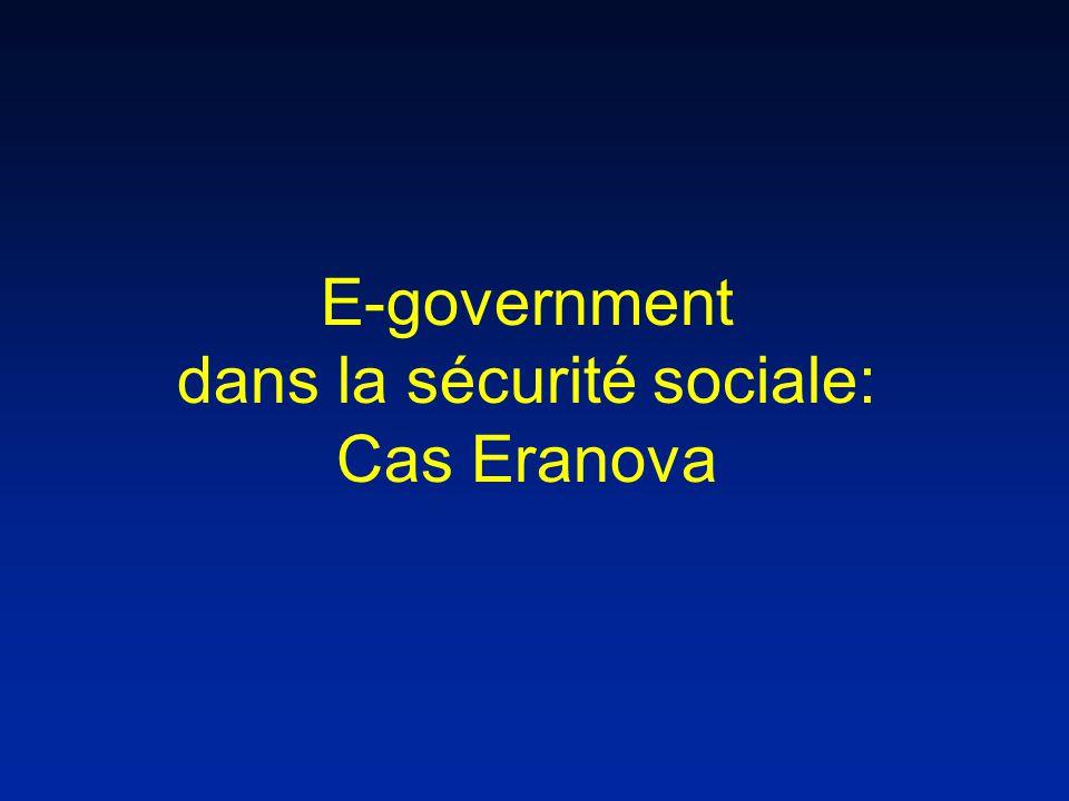 E-government dans la sécurité sociale: Cas Eranova