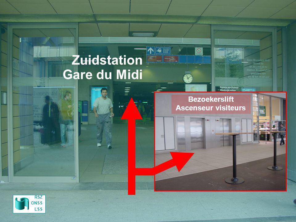 Zuidstation Gare du Midi Parking RSZ Parking ONSS RSZ ONSS LSS Bezoekerslift Ascenseur visiteurs