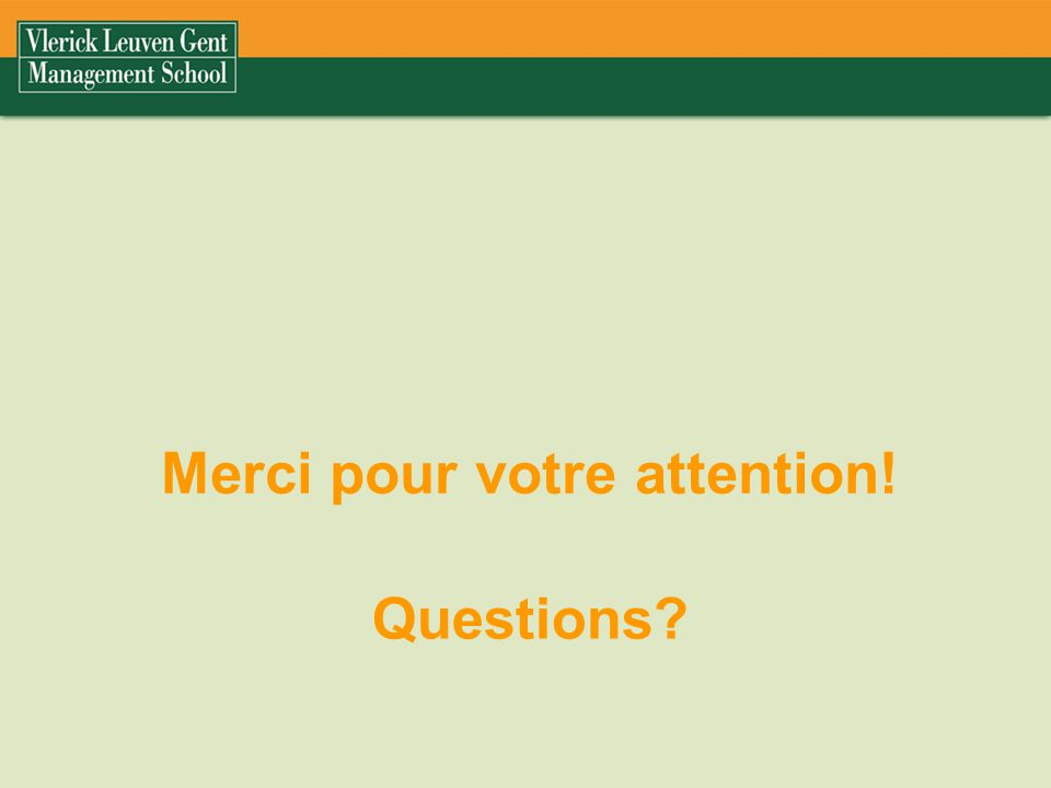 Questions? Merci pour votre attention!