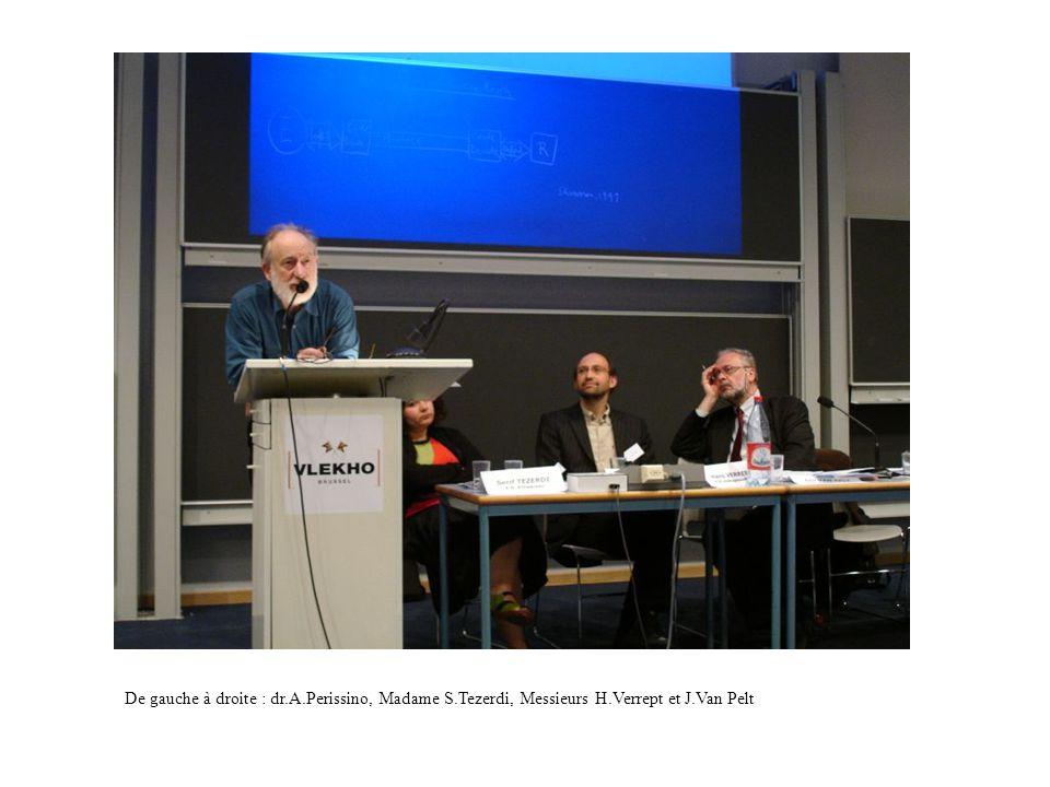 De gauche à droite : dr.A.Perissino, Madame S.Tezerdi, Messieurs H.Verrept et J.Van Pelt