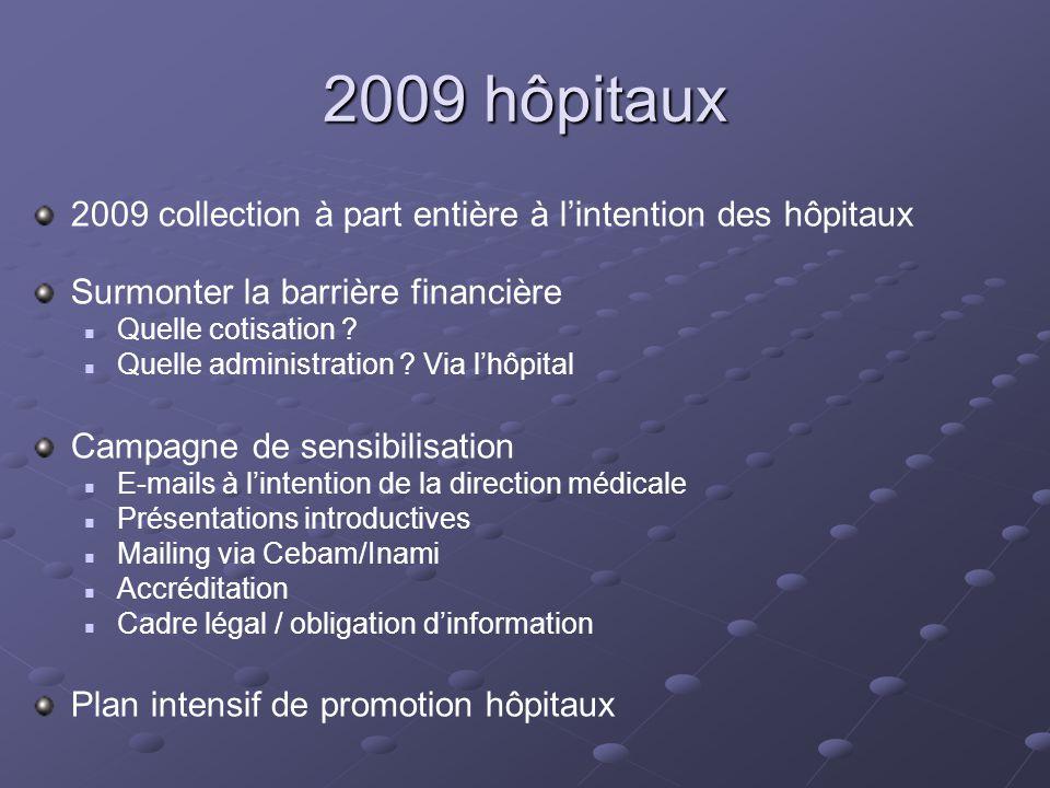 2009 hôpitaux 2009 collection à part entière à lintention des hôpitaux Surmonter la barrière financière Quelle cotisation .
