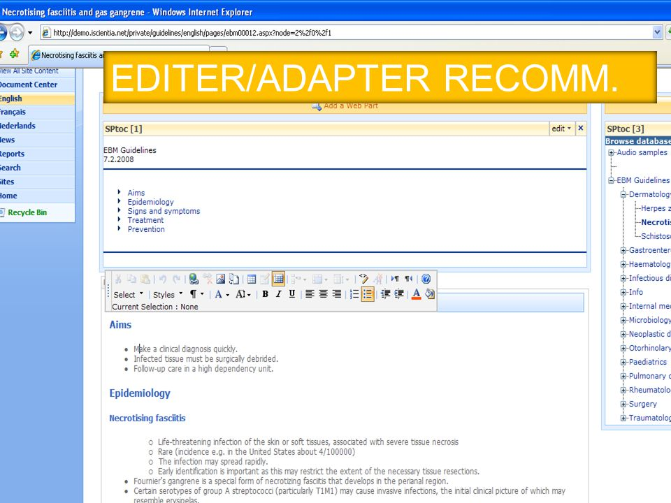 EDITER/ADAPTER RECOMM.