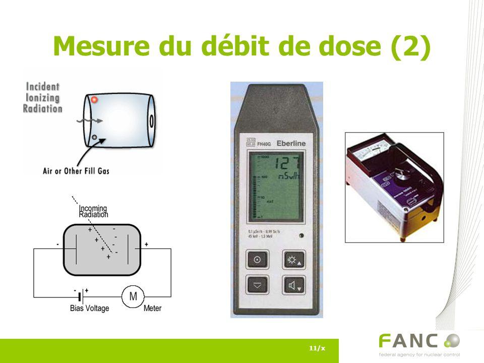 11/x Mesure du débit de dose (2)
