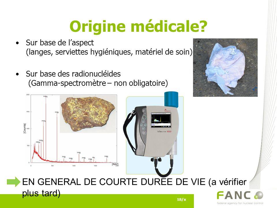 Origine médicale.