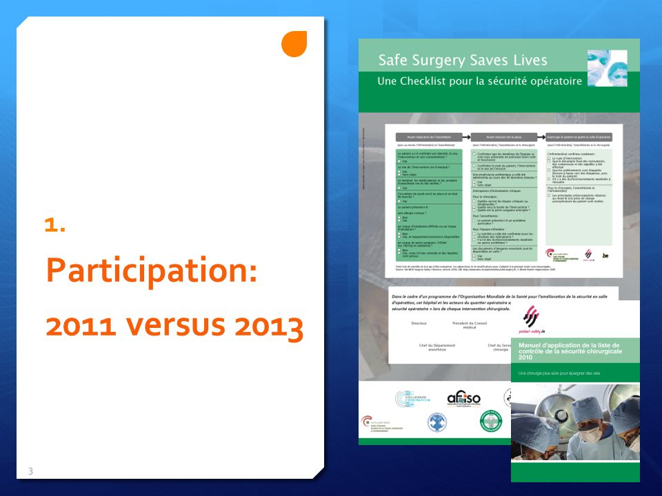 1. Participation: 2011 versus 2013 3