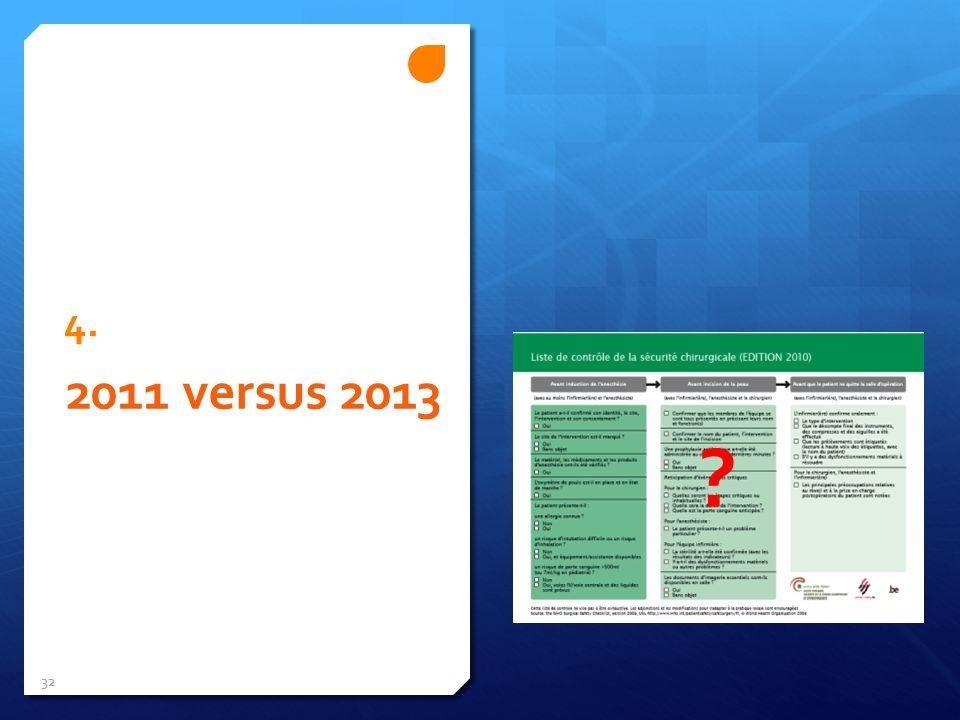 4. 2011 versus 2013 32 ?