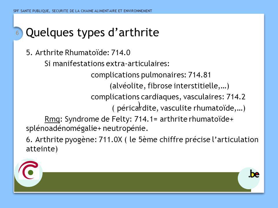 SPF SANTE PUBLIQUE, SECURITE DE LA CHAINE ALIMENTAIRE ET ENVIRONNEMENT 7 Fractures pathologiques et spontanées 1.