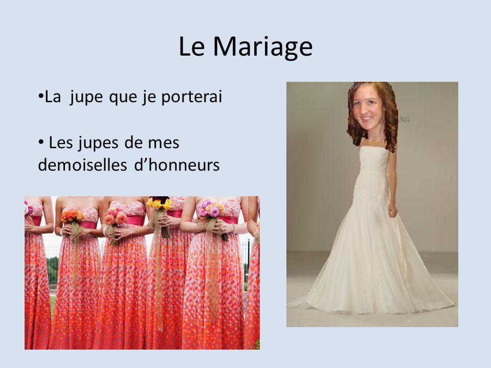 Le Mariage La jupe que je porterai Les jupes de mes demoiselles dhonneurs