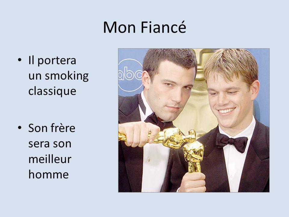 Mon Fiancé Il portera un smoking classique Son frère sera son meilleur homme