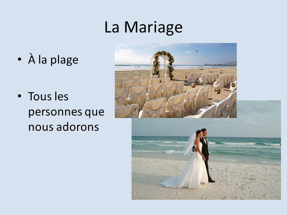 La Mariage À la plage Tous les personnes que nous adorons