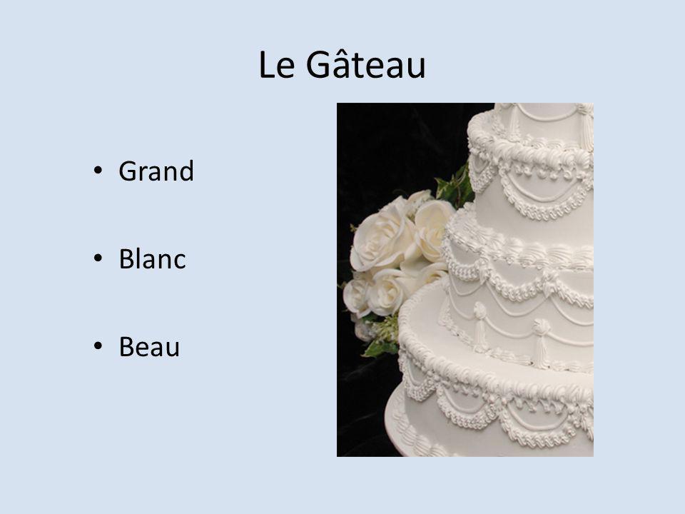 Le Gâteau Grand Blanc Beau