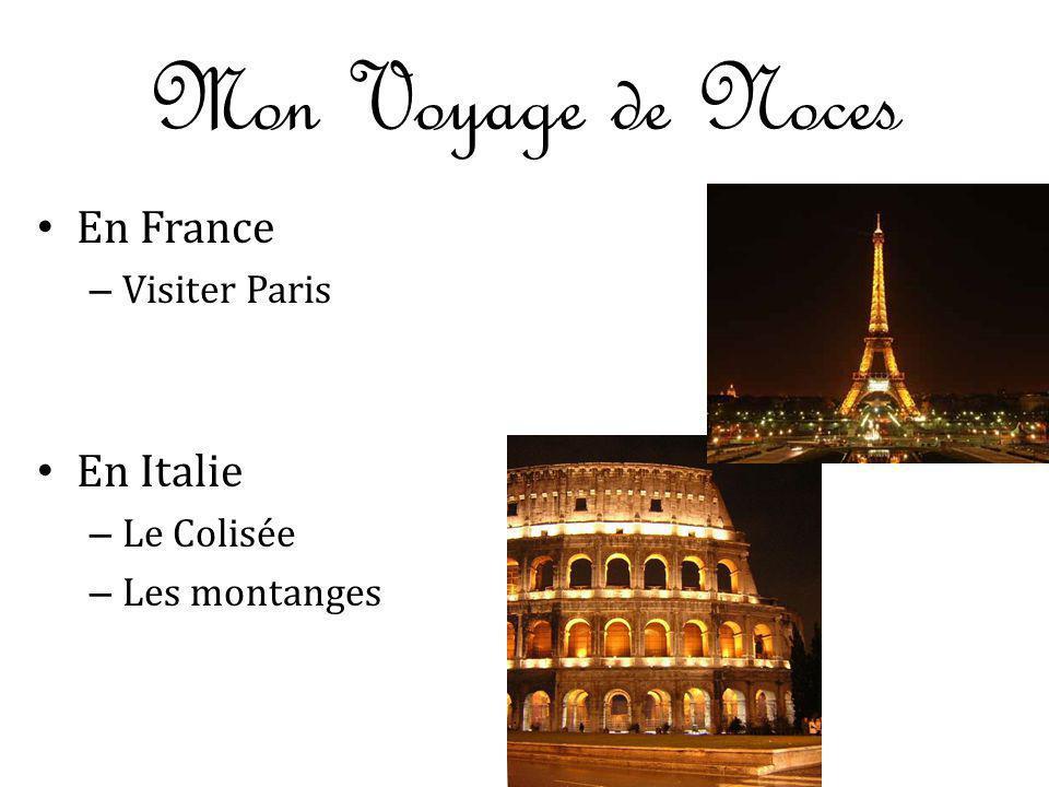 Mon Voyage de Noces En France – Visiter Paris En Italie – Le Colisée – Les montanges