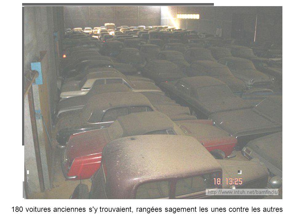 180 voitures anciennes s y trouvaient, rangées sagement les unes contre les autres