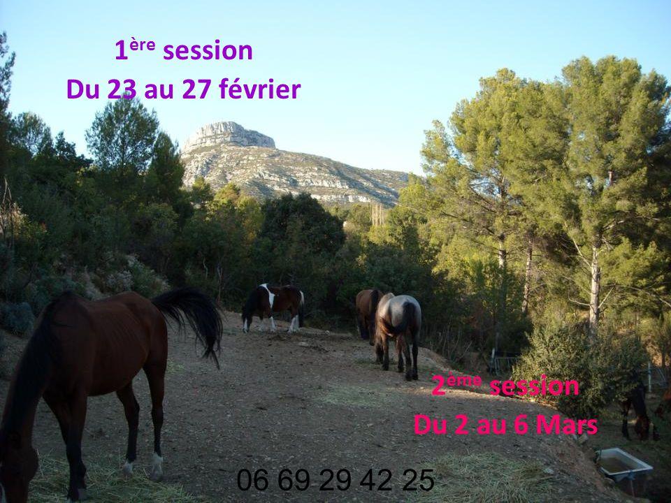 1 ère session Du 23 au 27 février 2 ème session Du 2 au 6 Mars 06 69 29 42 25
