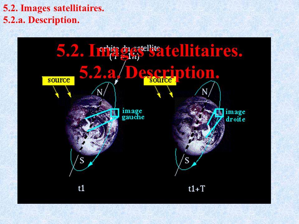 5.2. Images satellitaires. 5.2.a. Description. 5.2. Images satellitaires. 5.2.a. Description.