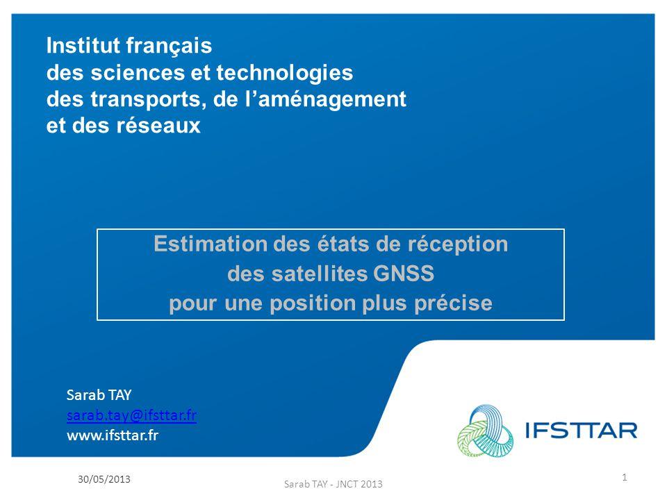 Institut français des sciences et technologies des transports, de laménagement et des réseaux www.ifsttar.fr Institut français des sciences et technol