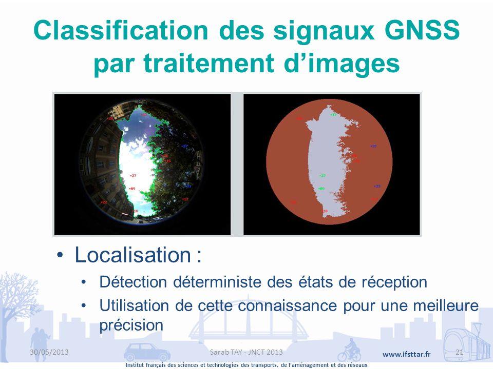 Institut français des sciences et technologies des transports, de laménagement et des réseaux www.ifsttar.fr Classification des signaux GNSS par trait