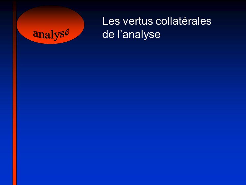 Les vertus collatérales de lanalyse