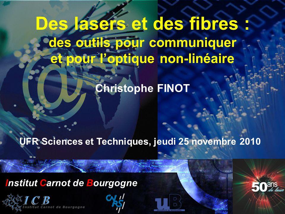 50 ans du laser Institut Carnot Bourgogne 25 Novembre 2010 Année Mondiale de la Physique 2005 Institut Carnot de Bourgogne Année Mondiale de la Physiq