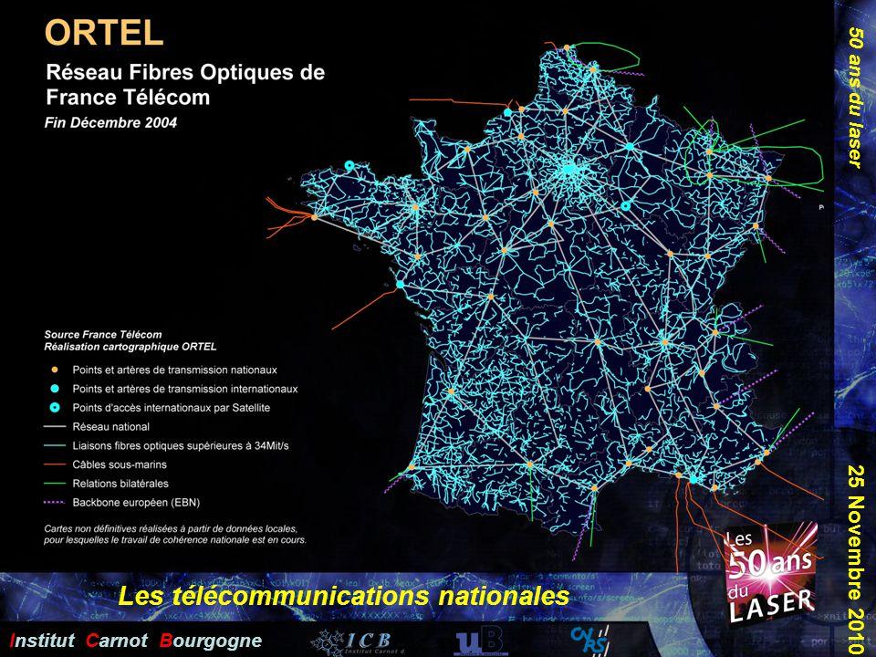 50 ans du laser Institut Carnot Bourgogne 25 Novembre 2010 Les télécommunications nationales