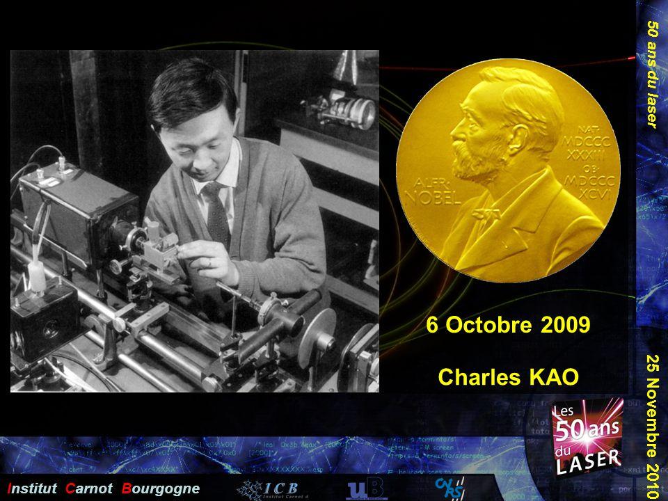 50 ans du laser Institut Carnot Bourgogne 25 Novembre 2010 Plan Charles KAO 6 Octobre 2009