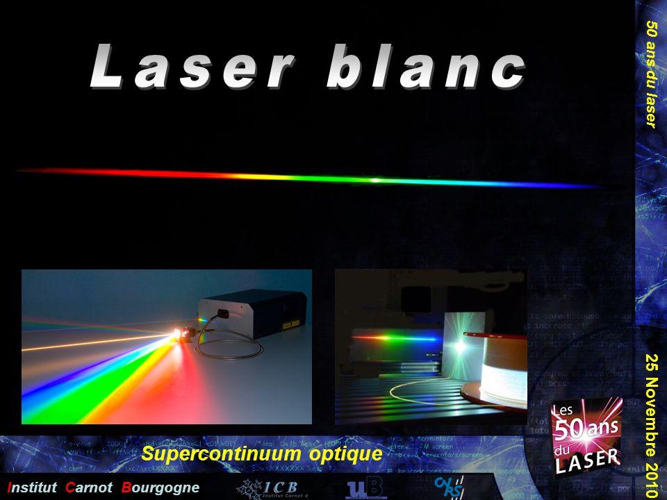 50 ans du laser Institut Carnot Bourgogne 25 Novembre 2010 Supercontinuum optique