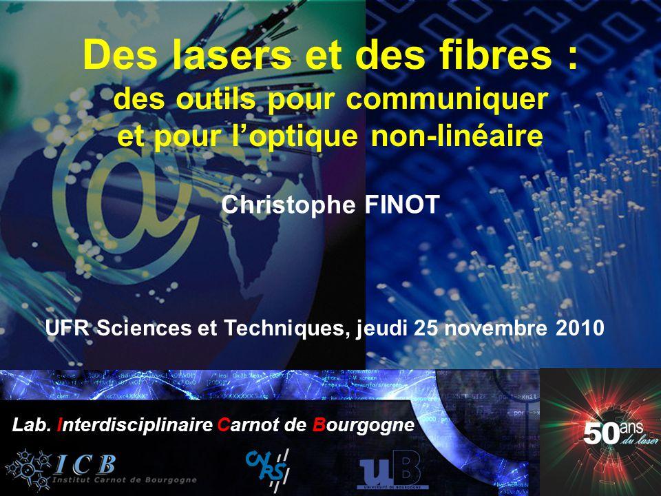 50 ans du laser Institut Carnot Bourgogne 25 Novembre 2010 Année Mondiale de la Physique 2005 Lab. Interdisciplinaire Carnot de Bourgogne Année Mondia