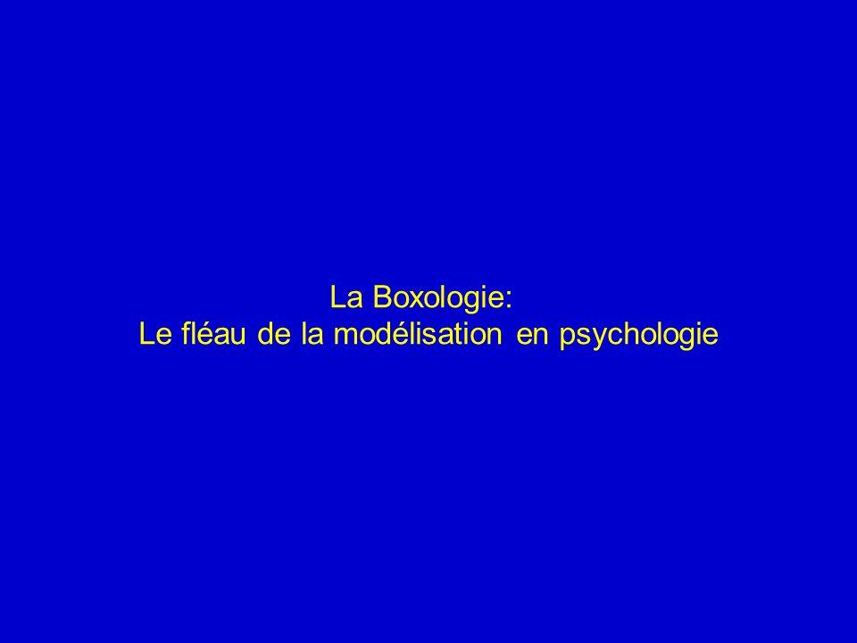 La Boxologie: Le fléau de la modélisation en psychologie