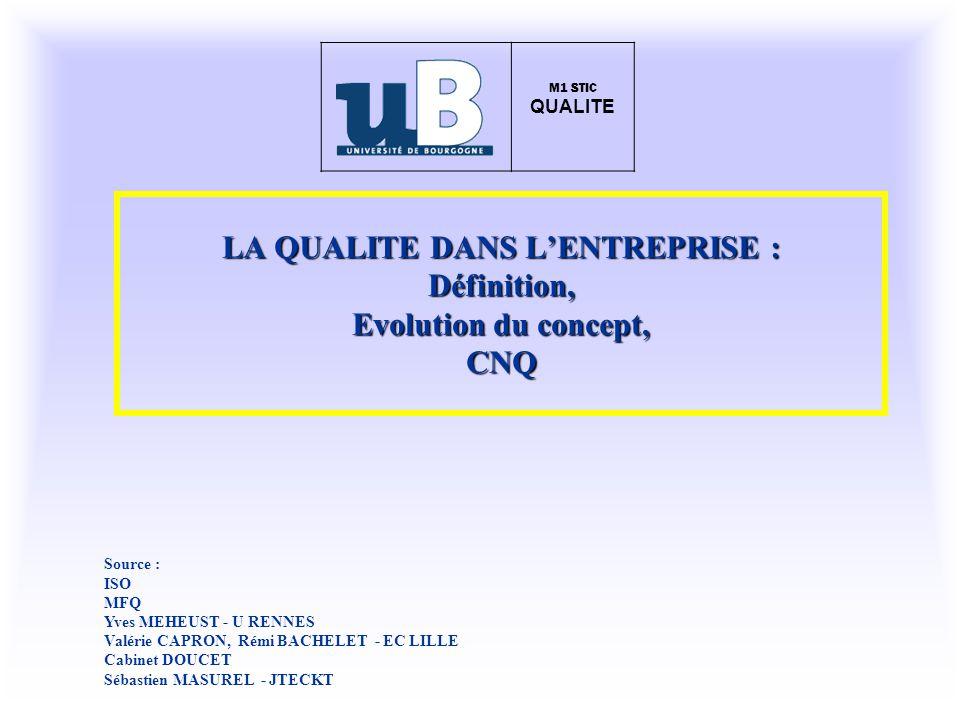 LE COUT DE NON QUALITE (CNQ) EXERCICE COUT NON QUALITE : SOCIETE QUAL SAV : 400 x 40 000 x 10% x 12 = 19,2 MF REBUTS : 3,6 MF PERSONNEL : (5 X 12 X 150 000) + (15 X 12 X 100 000) = 27 MF ENCAISSEMENT Impayés : 65 MF X 10% = 6,5 MF MARKETING (certificats garantie) : 20 420 000 = 8,4 MF ATELIER REPRISE : 20 MF TOTAL 84,6 MF 10 % CA
