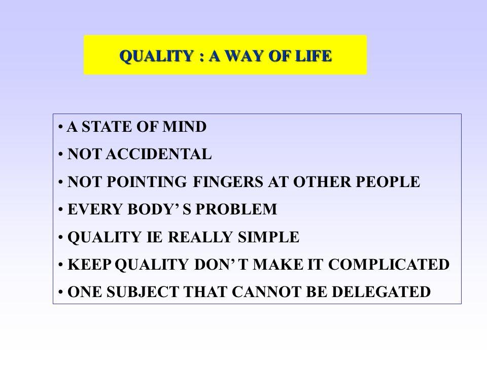 Pourquoi se mettre en marche vers la Qualité .