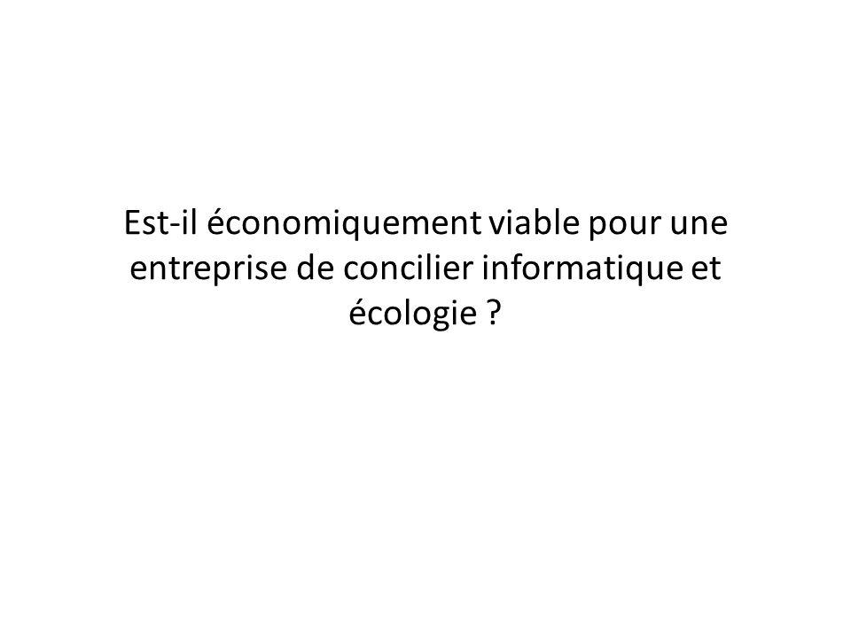 Est-il économiquement viable pour une entreprise de concilier informatique et écologie ?