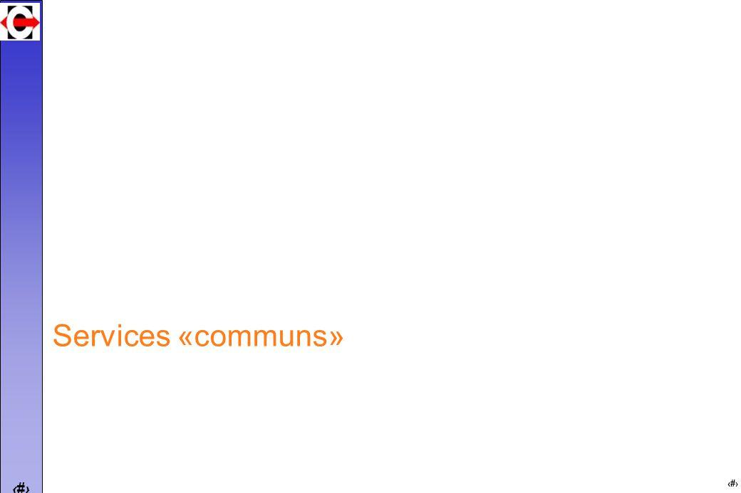 17 Services «communs»