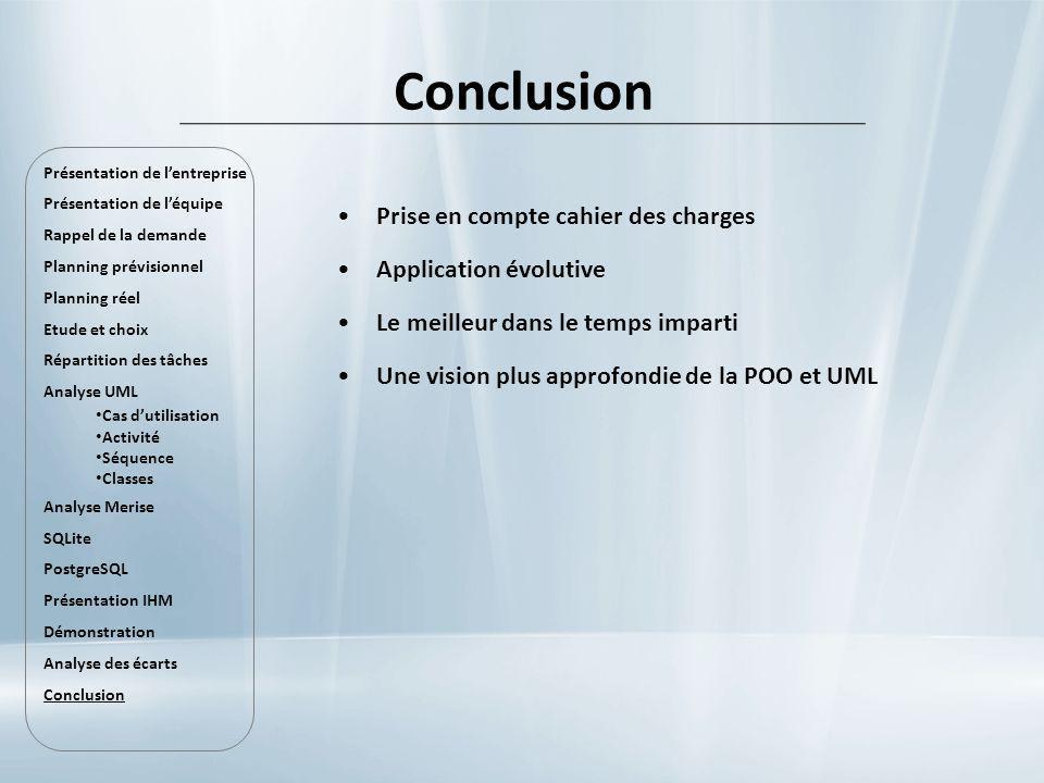 Prise en compte cahier des charges Application évolutive Le meilleur dans le temps imparti Une vision plus approfondie de la POO et UML Présentation d