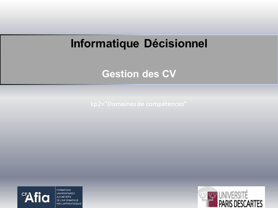 Informatique Décisionnel Gestion des CV kp2=
