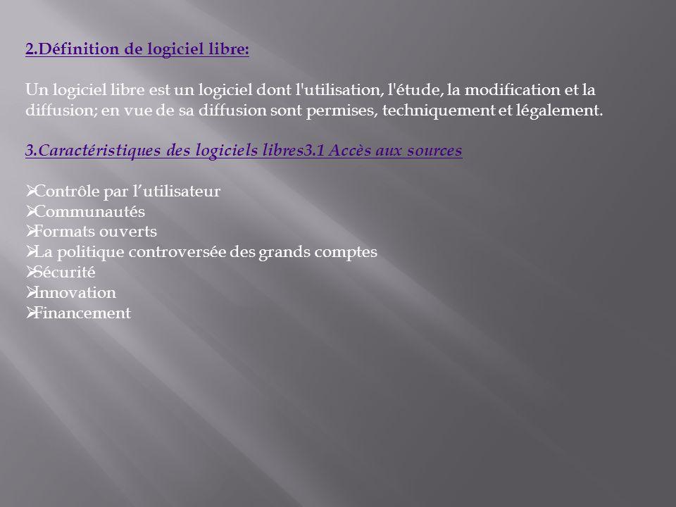 4.Classification des licences: a.