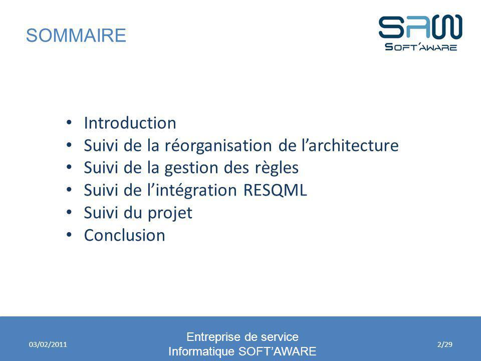 Diagramme de séuquences Entreprise de service Informatique SOFTAWARE 03/02/201113/29