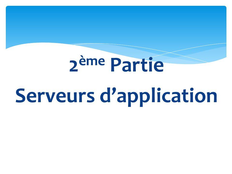 2 ème Partie Serveurs dapplication