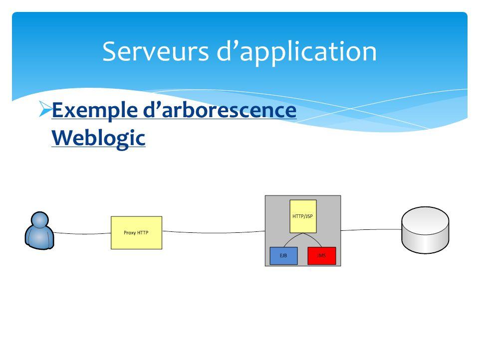 Exemple darborescence Weblogic Serveurs dapplication