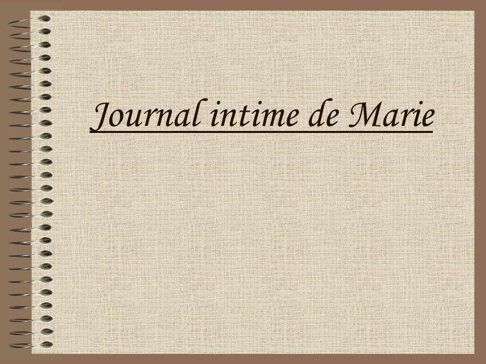 Journal intime de Marie