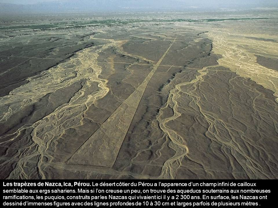 Les trapèzes de Nazca, Ica, Pérou.