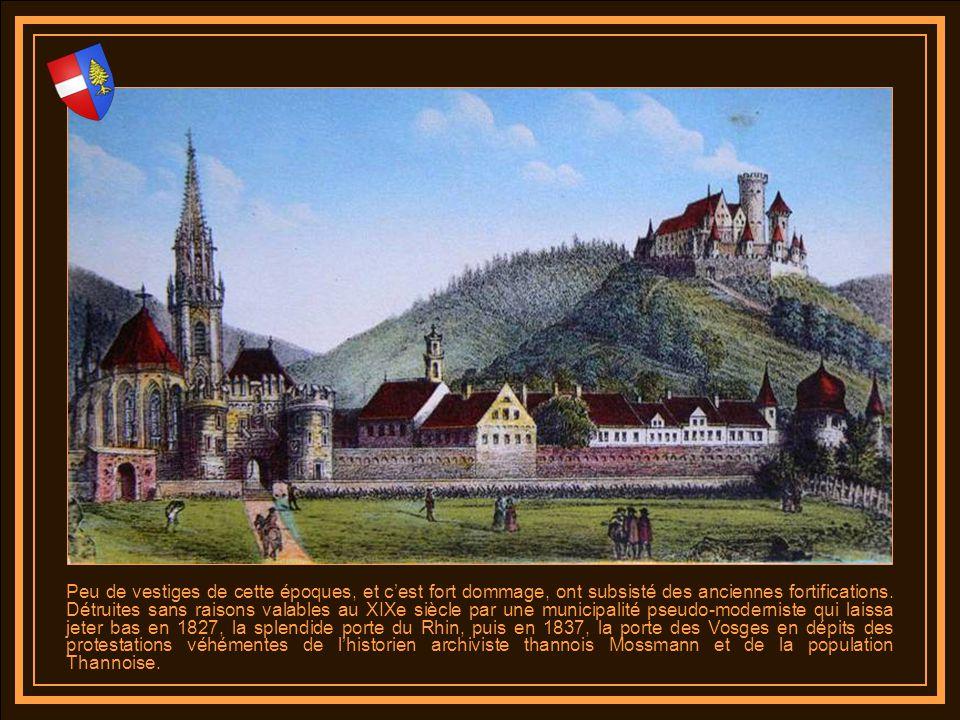 Thann belle cité médiévale constitue avec Guebwiller lune des portes des Hautes-Vosges. Littéralement coincée entre le Staufen et le Rangen dans létra