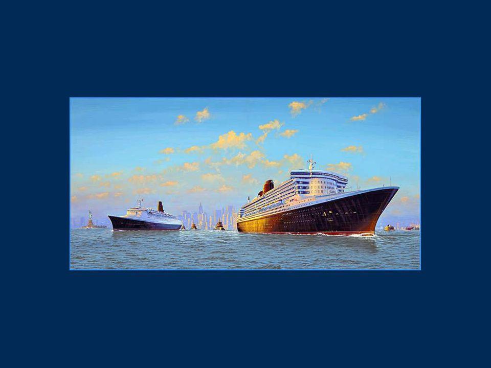 Le Queen Mary 2 a une longueur de 345 mètres et une largeur de 41 mètres.