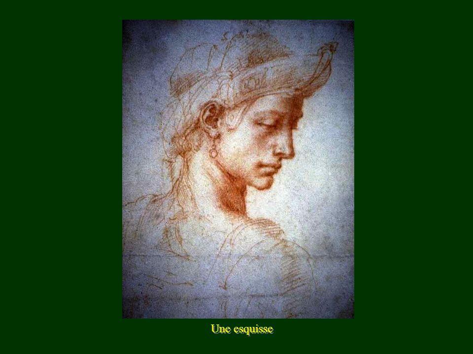 Esquisse - La vierge à lenfant -