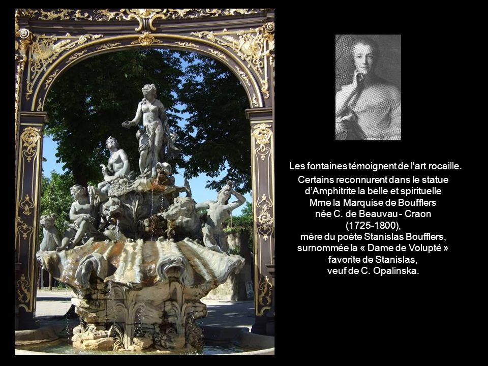 Fontaine Neptune Fontaine Amphitrite En 1771 pour faciliter l'accès au parc de la pépinière, les deux fontaines latérales qui encadraient la fontaine