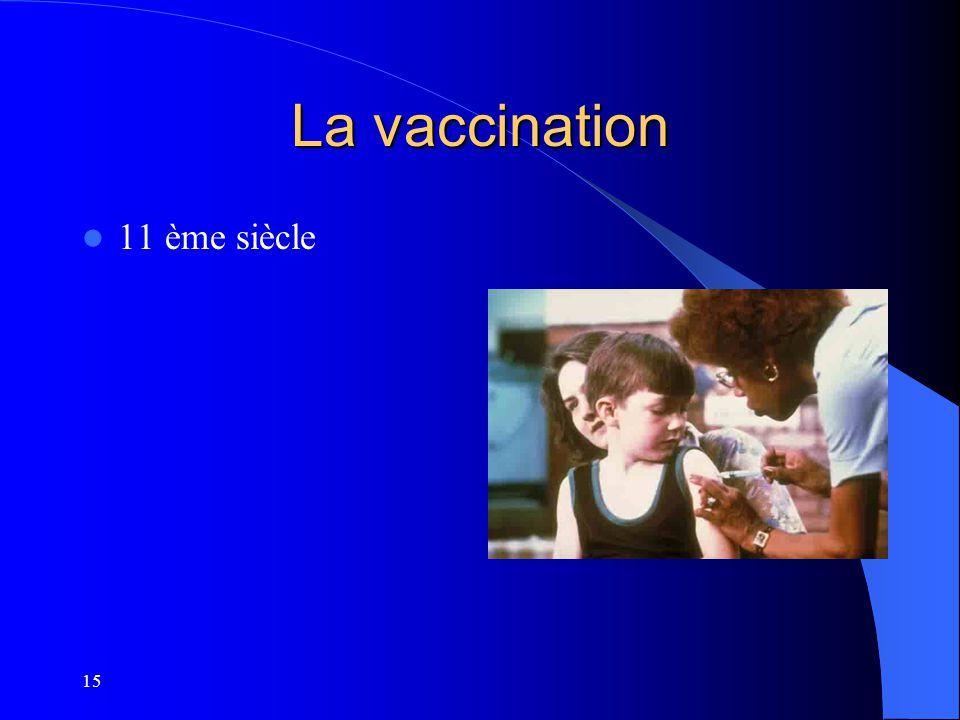 15 La vaccination 11 ème siècle