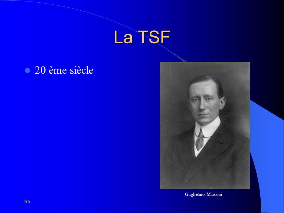 35 La TSF 20 ème siècle Guglielmo Marconi