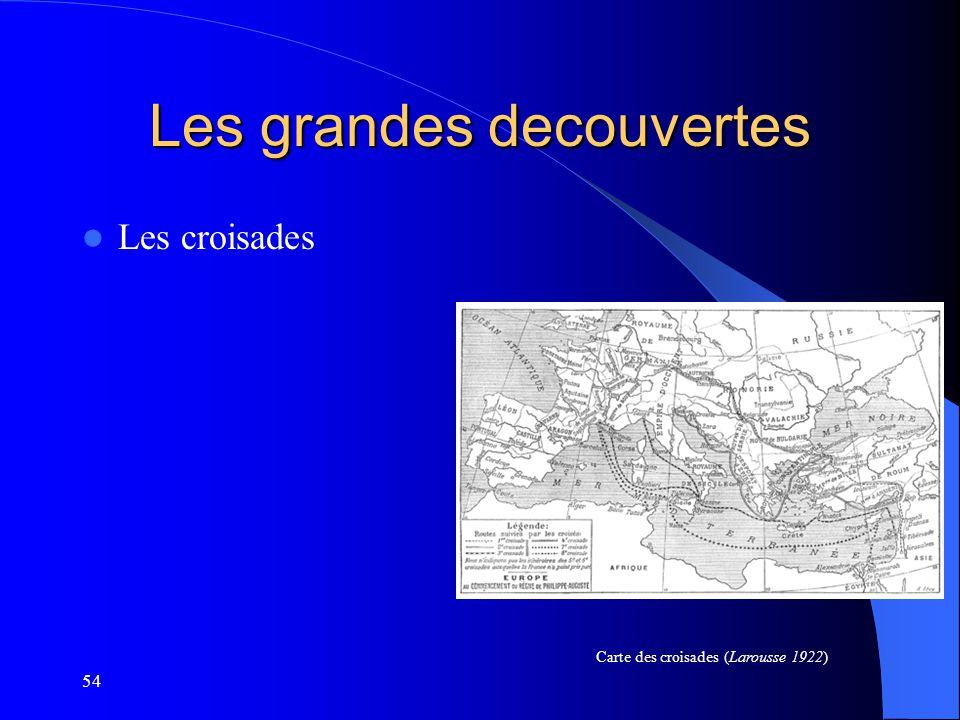 54 Les grandes decouvertes Les croisades Carte des croisades (Larousse 1922)