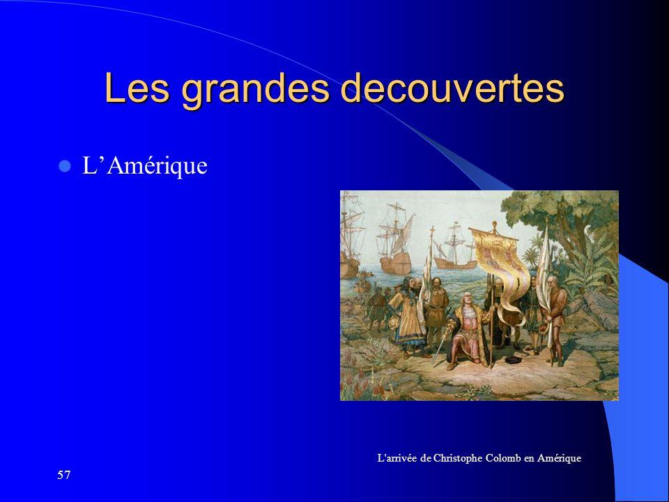 57 Les grandes decouvertes LAmérique L'arrivée de Christophe Colomb en Amérique