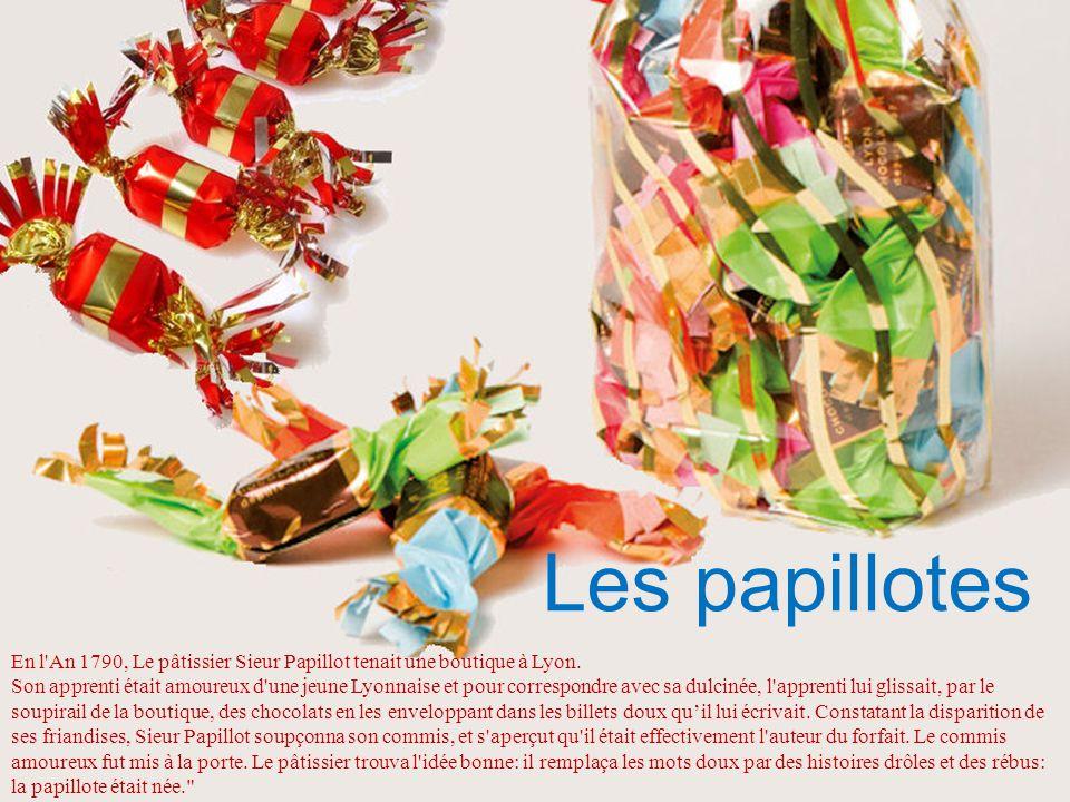 Fabriquées à base de sucre candi de betteraves il existe des parfums à la noisette, à la menthe à la pomme, à la poire ou au café.